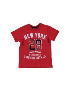 Raudoni marskineliai berniukui new york