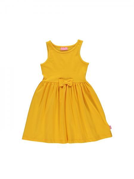 Geltona suknele mergaitei