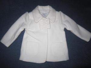Baltas paltukas 3-6 mėnesių mergaitei / kūdikiui