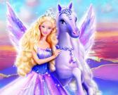 Barbė su žirgu dėlionė
